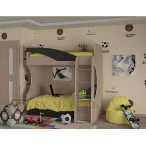 Кровать двухъярусная (Без матраца 0,8*1,86 )