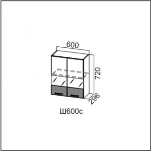 Ш600с/720 Шкаф навесной 600/720 (со стеклом) Арабика
