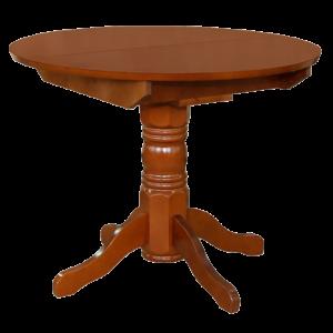 Стол обеденный раздвижной круглая крышка массив 1000х1300x770