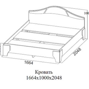 Кровать двойная без матраца 1,6*2,0 Лагуна 5