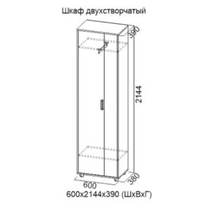 Шкаф двухстворчатый Визит-1