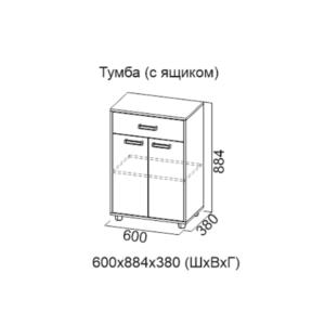 Тумба (с ящиком) Визит-1