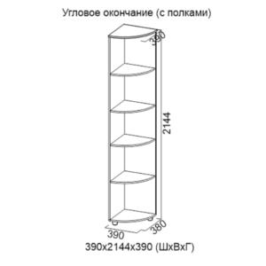 Угловое окончание (с полками) Визит-1