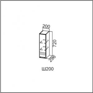 Ш200/720 Шкаф навесной 200/720 Лен