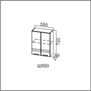 Ш550/720 Шкаф навесной 550/720 Лен