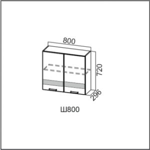 Ш800/720 Шкаф навесной 800/720 Лен