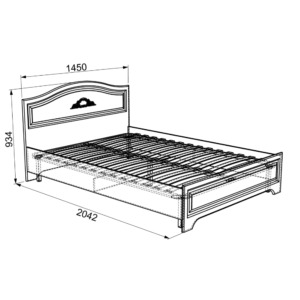 Белла Кровать 1.4 * (комфорт)