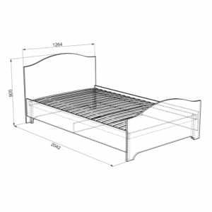 Алиса Кровать 1,2х2,0